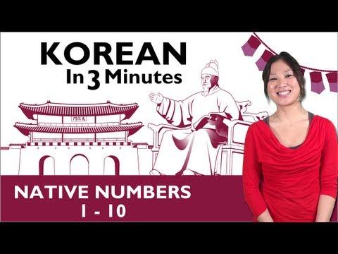 Learn Korean - Korean in 3 Minutes - Native Numbers 1-10