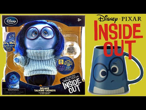 DISNEY / PIXAR INSIDE OUT SADNESS Talking Action Figure Toy + Cup Unboxing!!!