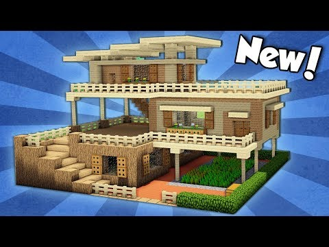 Minecraft: How to Build a Large Starter House Tutorial (#2)