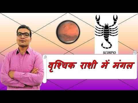 वृश्चिक राशि में मंगल के परिणाम (Mars In Scorpio) | ज्योतिष (Vedic Astrology) | हिंदी (Hindi)