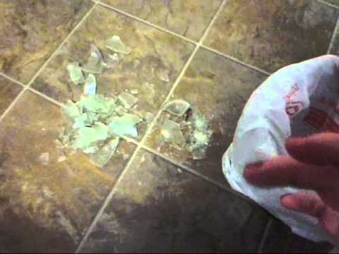 how to clean up broken glass  working with movies  brown