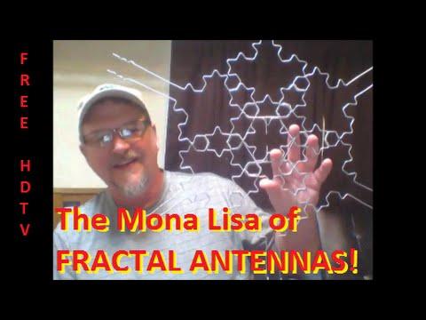 DIY: NEW IMPROVED HDTV Fractal Antenna (Multidimensional) - The Mona Lisa of Digital TV Antennas