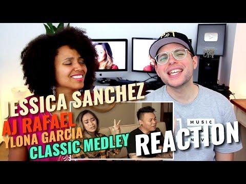 Jessica Sanchez & Ylona Garcia & AJ Rafael - Classic Karaoke Songs Medley | REACTION