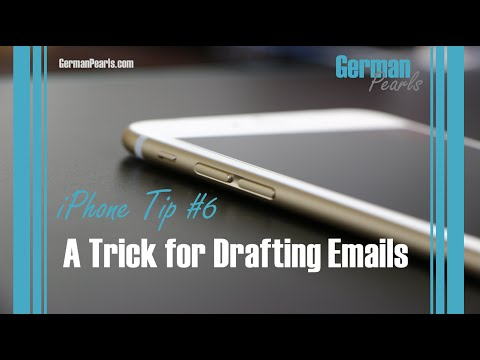 iPhone Tip #6 - Draft Email