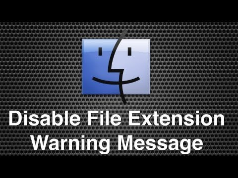 Disable File Extension Change Warning Message In Finder