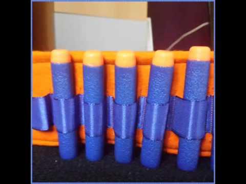 DIY Nerf Dart Belt, Nerf Pfeile Gürtel