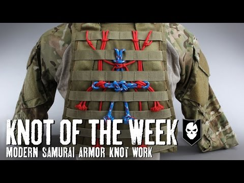 Knot of the Week: Modern Samurai Armor Knot Work with the Dragonfly Knot