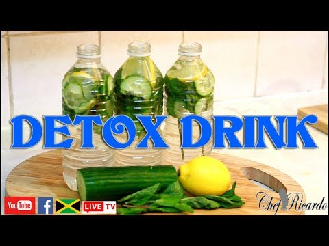 Detox Your Body!! How To Lose Belly Fat. Apple Cider Vinegar| Recipes By Chef Ricardo