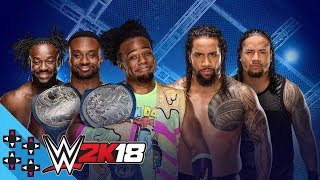 WWE 2K18 First Look - The New Day vs. The Usos (Hell in a Cell match)