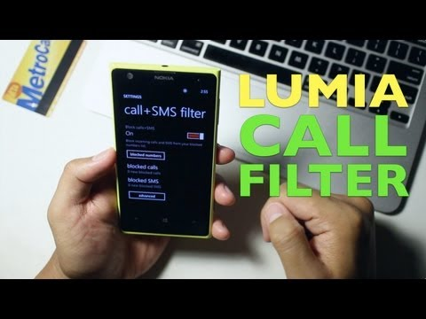 Nokia Lumia 1020 Update: Call + SMS filter