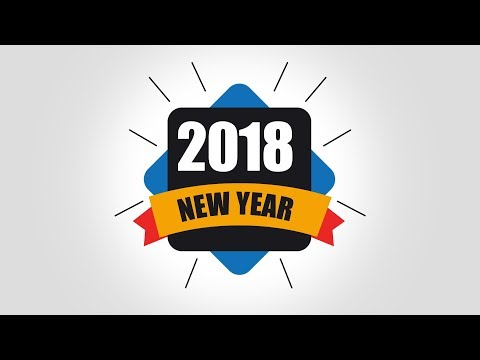 2018 Badge Logo design tutorial photoshop cs6