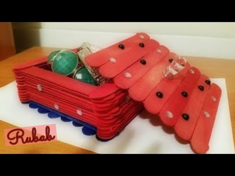 DIY Jewelry Box | How To Make a Jewelry Box | Popsicle Sticks Craft Idea | Best Out Of Waste