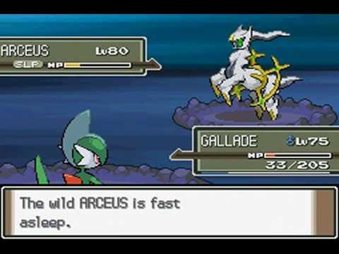 Pokemon Platinum (USA) - Catching Arceus