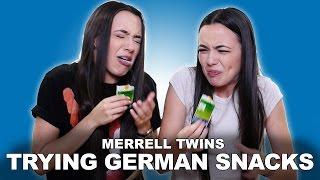 TRYING GERMAN SNACKS - Merrell Twins