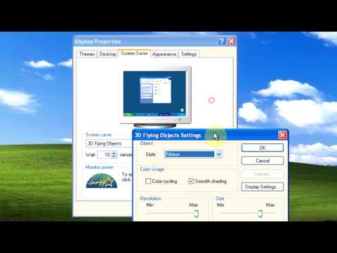Windows XP: How To Set Screen Saver