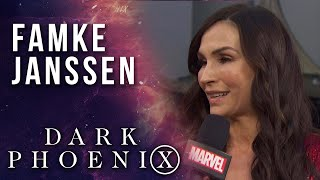 Famke Janssen chooses between Wolverine and Cyclops at the X-Men: Dark Phoenix Premiere