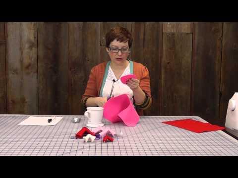 5 Minute DIY: Felt Fortune Cookie Valentines