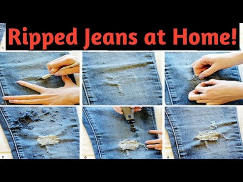 How to rip your jeans easily at home (hindi) || Fan See