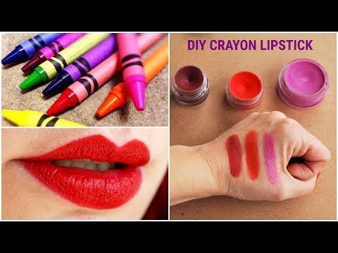 HOW TO MAKE CRAYON LIPSTICK AT HOME/DIY LIP CRAYON