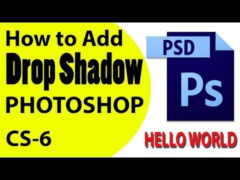 TEXT SHADOW: HOW TO ADD DROP SHADOW - ADOBE PHOTOSHOP (HINDI)