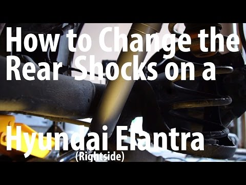 DIY How to change the rear shocks on a Hyundai Elantra - KYB (Rightside with commentary)