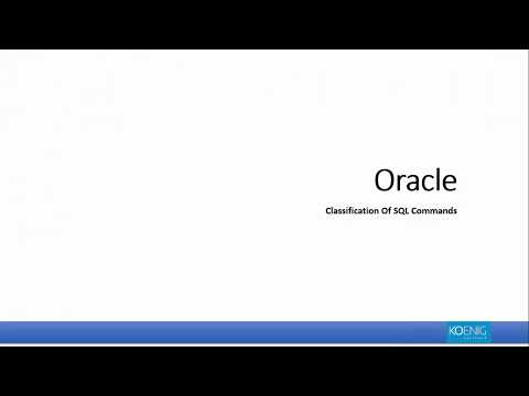 Oracle SQL Commands