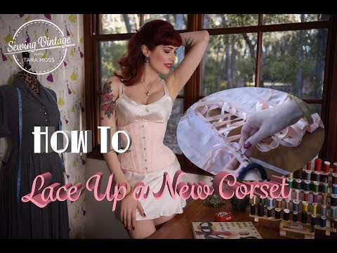 How to Lace Up a New Corset