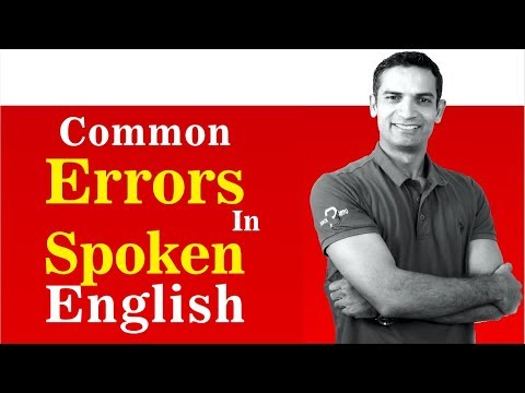 Common Errors in English Speaking and Writing learn how to pronounce English | The Skill Sets