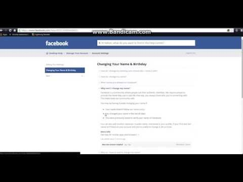 How To Change Your Facebook Name Before 60 Days