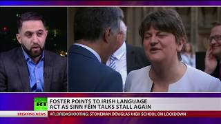 Foster points to Irish language act as Sinn Fein talks stall again