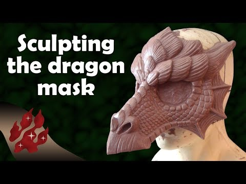 Sculpting the Dragon Mask
