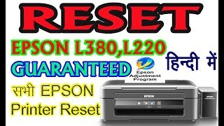 Epson L380 Resetter | And More Resetters Available Here    - PakVim