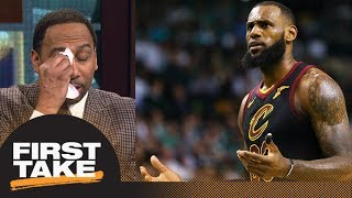Stephen A. mockingly cries for LeBron James after new-look Cavaliers debut | First Take | ESPN