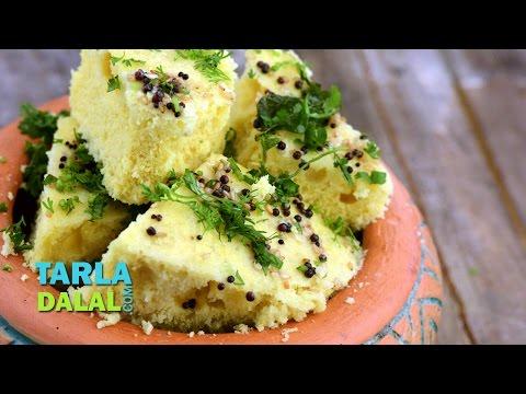 Nylon Khaman Dhokla Recipe, Instant Khaman Dhokle by Tarla Dalal