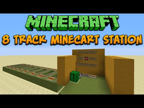 Minecraft 1.8: 8 Track Minecart Station Tutorial
