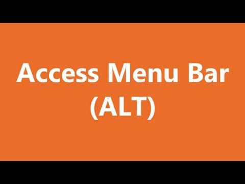 Excel Shortcuts - Access Menu Bar
