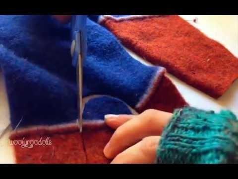 upcycled sweater felt slipper tutorial