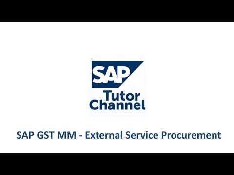 SAP GST MM - External Service Procurement
