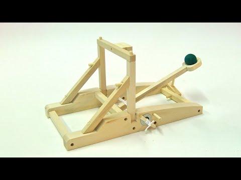 How to make a trebuchet kick machine from wood pallet | DIY Tutorial