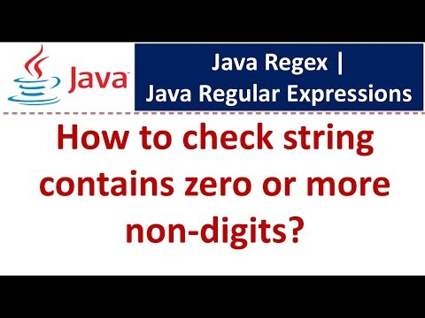 How to check string contains zero or more non-digits | Java Regex