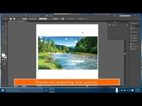 How to Embed a linked image in Illustrator