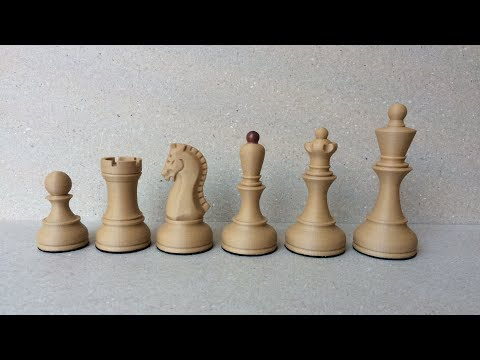 3D printed wooden chess set