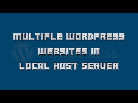 How to install multiple wordpress websites in local host server simultaneously.