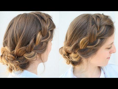 Simple French Braid Updo | Work Hairstyles | Braidsandstyles12