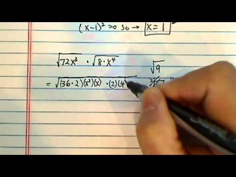 *how to simplify square roots? sqrt 72x^3 multiply by sqrt 8x^4