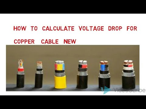 How to calculate voltage drop for copper cable