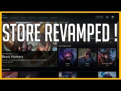 Store Update / Revamped! - League of Legends [Season 6 - PBE]