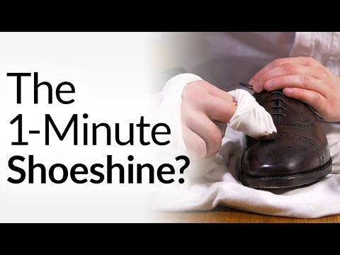 1-Minute Shoeshine | Shoe Polish Scuffs & Scratches FAST | Shine Dress Shoes In One Minute