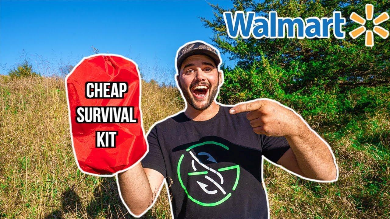 Testing CHEAP WALMART SURVIVAL KIT!!! (Surprising Result!)