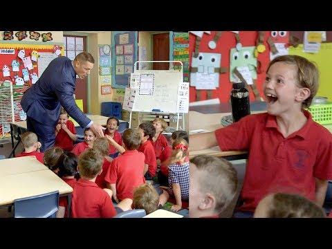 John Cena surprises excited primary school kids!!!